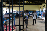 UGANDA, Kampala, Kampiringisa, national rehabilitation center, a juvenile-detention facility for children and young people, sleeping rroms / Jugendhaftanstalt und Rehabilitationszentrum Kampiringisa, Schlafsaal
