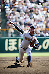 Kona Takahashi (Maebashi Ikuei),<br /> AUGUST 22, 2013 - Baseball :<br /> Kona Takahashi of Maebashi Ikuei pitches during the 95th National High School Baseball Championship Tournament final game between Maebashi Ikuei 4-3 Nobeoka Gakuen at Koshien Stadium in Hyogo, Japan. (Photo by Toshihiro Kitagawa/AFLO)