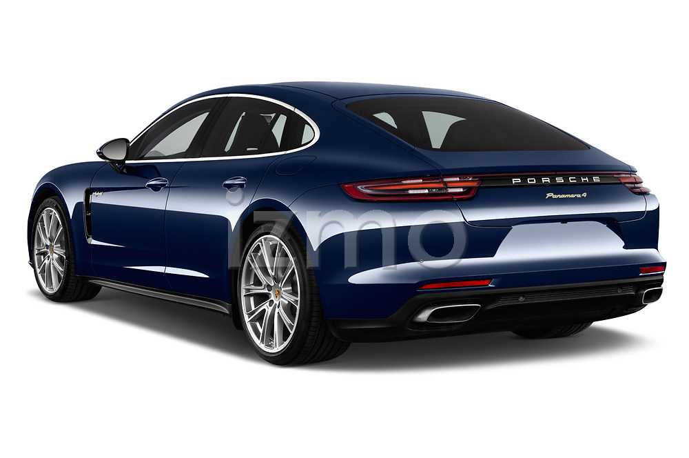 Car pictures of rear three quarter view of a 2018 Porsche Panamera 4 E-Hybrid 5 Door Hatchback angular rear