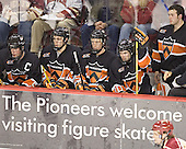 Patrick Neundorfer, Sebastian Borza, Kyle Hagel, Brandan Kushniruk, B.J. Sklapsky - The Princeton University Tigers defeated the University of Denver Pioneers 4-1 in their first game of the Denver Cup on Friday, December 30, 2005 at Magness Arena in Denver, CO.