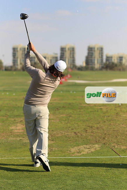 Kristoffer Broberg Swing sequence pictured at the Abu Dhabi HSBC Golf Championship in the Abu Dhabi golf club, Abu Dhabi, UAE..Picture: Fran Caffrey/www.golffile.ie.