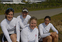Reading, GREAT BRITAIN, GBR W4X left to right Katherine GRAINGER, Debbie FLOOD, Francis HOUGHTON and Annei VERNON, GB Rowing 2007 FISA World Cup Team Announcement, at the GB Training centre, Caversham, England on Thur. 26.04.2007  [Photo, Peter Spurrier/Intersport-images]..... , Rowing course: GB Rowing Training Complex, Redgrave Pinsent Lake, Caversham, Reading