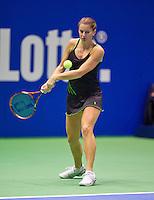 December 189 2014, Rotterdam, Topsport Centrum, Lotto NK Tennis, Lady's quarter final, Quirine Lemoine (NED)<br /> Photo: Tennisimages/Henk Koster