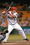 19 July 2007: Washington Nationals catcher Jesus Flores in action against the Colorado Rockies at RFK Stadium in Washington, DC. The Nationals defeated the Rockies 5-4 in extra innings in their first meeting of the season...Mandatory Photo Credit: Ed Wolfstein Photo