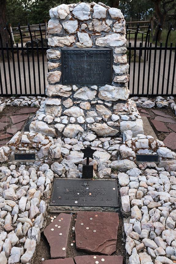 Buffalo Bill grave site at Lookout Mountain, Golden, Colorado, USA