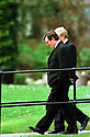Ulster Unionist leader David Trimble takes a stroll outside Castle Buildings, Wednesday April 9, 1998, at Stormont during the Northern Ireland Peace Talks, Belfast Northern Ireland. (AP Photo/Paul McErlane)