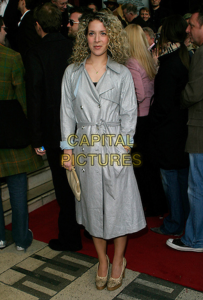 "NATALIE CASEY.Arrivals for ""Movin' Out"" Opening Night,.Apollo Victoria Theatre, .London, England, April 10th 2006..full length two pints grey coat mac.Ref: AH.www.capitalpictures.com.sales@capitalpictures.com.©Adam Houghton/Capital Pictures."