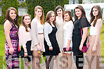 Students from Scoil Inbhear Sceine Kenmare Pictured at the Young Entrepreneur Awards in the Malton Hotel on Thursday evening, from left: Shauna Reilly, Ciara Whitling, Mayra Kerssens, Caoimhe Downing, Tara Viscardi, Aoife Casey, Caitlin OMahony and Rose Kennedy..
