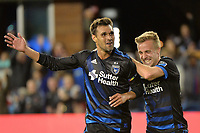 San Jose, CA - Saturday June 09, 2018: Chris Wondolowski, Tommy Thompson during a Major League Soccer (MLS) match between the San Jose Earthquakes and Los Angeles Football Club at Avaya Stadium.