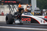 Aug 18, 2018; Brainerd, MN, USA; NHRA top fuel driver Billy Torrence during qualifying for the Lucas Oil Nationals at Brainerd International Raceway. Mandatory Credit: Mark J. Rebilas-USA TODAY Sports