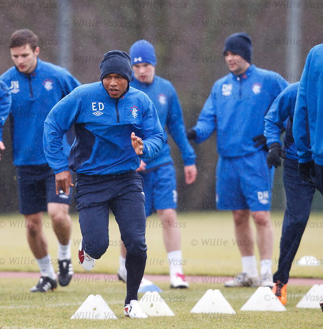 El Hadji Diouf putting in a shift at training
