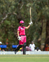 24th November 2019; Lilac Hill Park, Perth, Western Australia, Australia; Womens Big Bash League Cricket, Perth Scorchers versus Sydney Sixers; Ashleigh Gardner of the Sydney Sixers aknowledges the applaus after she reached fifty runs - Editorial Use