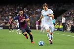 UEFA Champions League 2018/2019 - Matchday 1.<br /> FC Barcelona vs PSV Eindhoven: 4-0.<br /> Luis Suarez vs Daniel Schwaab.