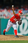 22 July 2012: Washington Nationals pitcher Craig Stammen on the mound against the Atlanta Braves at Nationals Park in Washington, DC. The Nationals defeated the Braves 9-2 to split their 4-game weekend series. Mandatory Credit: Ed Wolfstein Photo