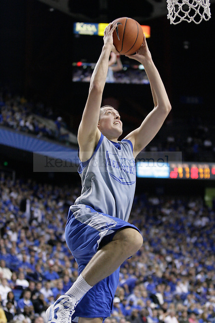 Kyle Wiltjer goes goes for a dunk in the Blue-White Scrimmage at Rupp Arena Wednesday night, October 26, 2011.  Photo by Scott Hannigan