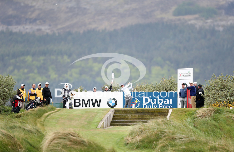 27 May 2015; Rory McIlroy tees off at the 3rd<br /> <br /> Dubai Duty Free Irish Open Golf Championship 2015, Pro-Am. Royal County Down Golf Club, Co. Down. Picture credit: John Dickson / DICKSONDIGITAL