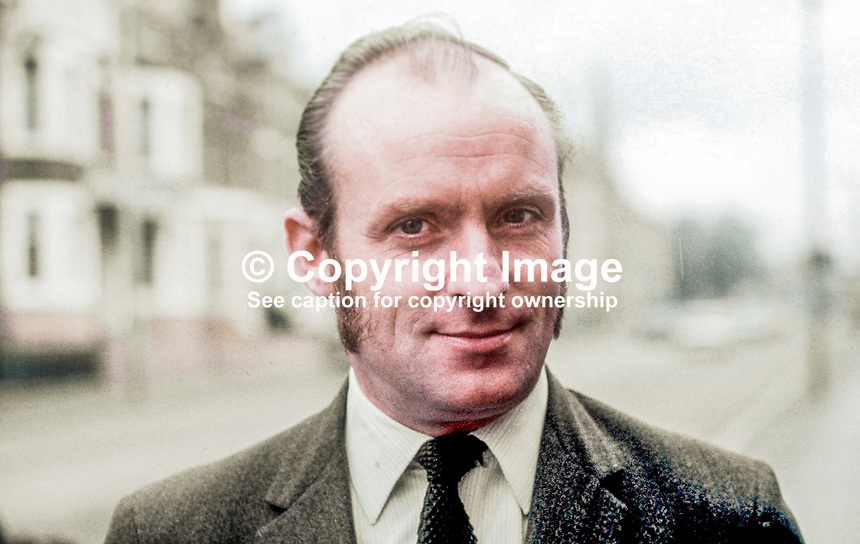 Paddy Wilson, Republican Labour Party, Senator, N Ireland Parliament, Councillor, Belfast Corportation, N Ireland, September 1970. 197009000346<br />
