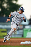 Staten Island Yankees designated hitter Nathan Mikolas (39) running the bases during a game against the Batavia Muckdogs on August 26, 2016 at Dwyer Stadium in Batavia, New York.  Staten Island defeated Batavia 6-2.  (Mike Janes/Four Seam Images)