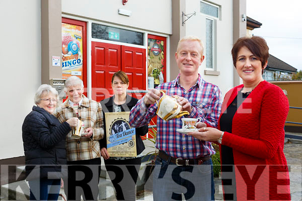 launching the  Tea Dance fundraiser for North Kerry Home Maintenance Service at the Plaza Hall Listowel on Sunday November 5th from 2pm to 5.30pm were Tom McElligott,  Diana McCarthy Hannah Mulvihill, Kitty McElligott, Dympna O'Carroll