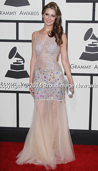 Pictured: Brooklyn Haley<br /> Mandatory Credit &copy; Frederick Taylor/Broadimage<br /> 56th Annual Grammy Awards - Red Carpet<br /> <br /> 1/26/14, Los Angeles, California, United States of America<br /> <br /> Broadimage Newswire<br /> Los Angeles 1+  (310) 301-1027<br /> New York      1+  (646) 827-9134<br /> sales@broadimage.com<br /> http://www.broadimage.com