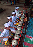 Children's Gamelan Orchestra at school cultural performance, Peliatan, Bali, Indonesia