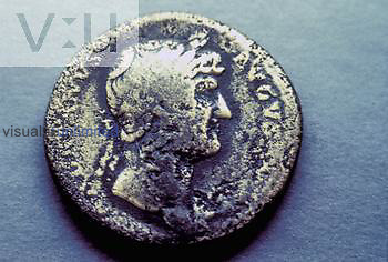 Roman coin from the reign of Hadrian (117-138 AD).