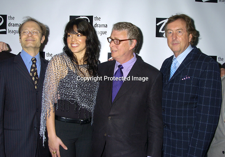 Monty Python's Spamalot Cast, David Hyde Pierce, Sara Ramirez, Mike Nichols and Eric Idle ..at the 71st Annual Drama League Awards Luncheon on ..May 13, 2005 at the Marriott Marquis Hotel. ..Photo by Robin Platzer, Twin Images