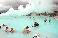 Cooling Pools & Silica Deposits at the Blue Lagoon Spa, Iceland