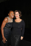"""Deborah Koenigsberger & Marcia Gay Harden at The Fourteenth Annual Hearts of Gold Gala """"Hooray for Hollywood!"""" - with its mission to foster sustainable change in lifestyle and levels of self-sufficiency for homeless mothers and their children on October 28, 2010 at the Metropolitan Pavillion, New York City, New York. (Photo by Sue Coflin/Max Photos)"""