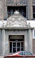 Louis Sullivan: Bayard Bldg., 1898. Entrance.  Photo '78.