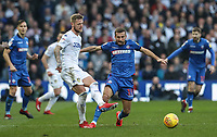 Bolton Wanderers' Gary O'Neil competing with Leeds United's Liam Cooper <br /> <br /> Photographer Andrew Kearns/CameraSport<br /> <br /> The EFL Sky Bet Championship - Leeds United v Bolton Wanderers - Saturday 23rd February 2019 - Elland Road - Leeds<br /> <br /> World Copyright © 2019 CameraSport. All rights reserved. 43 Linden Ave. Countesthorpe. Leicester. England. LE8 5PG - Tel: +44 (0) 116 277 4147 - admin@camerasport.com - www.camerasport.com