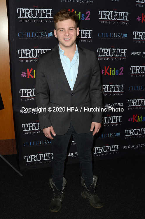 "LOS ANGELES - MAR 9:  Jonathan Lipnicki at the ""(My) Truth: The Rape of 2 Coreys"" L.A. Premiere at the DGA Theater on March 9, 2020 in Los Angeles, CA"