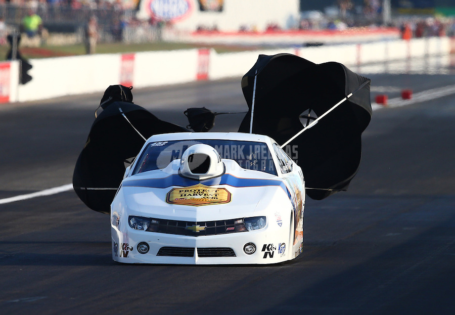 Aug. 30, 2013; Clermont, IN, USA: NHRA pro stock driver Steve Kent during qualifying for the US Nationals at Lucas Oil Raceway. Mandatory Credit: Mark J. Rebilas-
