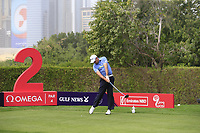 Sam Brazel (AUS) on the 2nd tee during Round 1 of the Omega Dubai Desert Classic, Emirates Golf Club, Dubai,  United Arab Emirates. 24/01/2019<br /> Picture: Golffile | Thos Caffrey<br /> <br /> <br /> All photo usage must carry mandatory copyright credit (&copy; Golffile | Thos Caffrey)