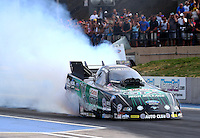 Jul. 18, 2014; Morrison, CO, USA; NHRA funny car driver John Force during qualifying for the Mile High Nationals at Bandimere Speedway. Mandatory Credit: Mark J. Rebilas-