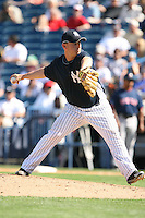 March 17th 2008:  Scott Strickland of the New York Yankees during a Spring Training game at Legends Field in Tampa, FL.  Photo by:  Mike Janes/Four Seam Images