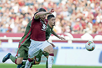 27th October 2019; Olympic Grande Torino Stadium, Turin, Piedmont, Italy; Serie A Football, Torino versus Cagliari; Andrea Belotti of Torino FC chases after the through ball - Editorial Use