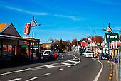 The main street of Ohakune, Central North Island, New Zealand