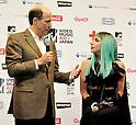 John V. Roos and Lady Gaga, Jun 23, 2011 : Lady Gaga, Tokyo, Japan, June 23, 2011 : U.S. ambassador to Japan, John V. Roos(L) and Lady Gaga attend a press conference in Tokyo, Japan, on June 23, 2011.