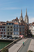 Europe/France/Aquitaine/64/Pyrénées-Atlantiques/Pays-Basque/Bayonne: Pont Marengo sur la Nive et