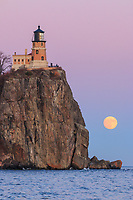 &quot;Super Moonrise at Split Rock Lighthouse&quot;<br />