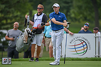 Matt Fitzpatrick (ENG) watches his tee shot on 3 during 1st round of the World Golf Championships - Bridgestone Invitational, at the Firestone Country Club, Akron, Ohio. 8/2/2018.<br /> Picture: Golffile | Ken Murray<br /> <br /> <br /> All photo usage must carry mandatory copyright credit (&copy; Golffile | Ken Murray)