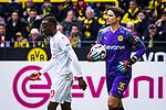 11.05.2019, Signal Iduna Park, Dortmund, GER, 1.FBL, Borussia Dortmund vs Fortuna Düsseldorf, DFL REGULATIONS PROHIBIT ANY USE OF PHOTOGRAPHS AS IMAGE SEQUENCES AND/OR QUASI-VIDEO<br /> <br /> im Bild | picture shows:<br /> Marwin Hitz (Borussia Dortmund #35) am Ball, <br /> <br /> Foto © nordphoto / Rauch