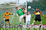 Daniel Bohane Austin Stacks in action against Eamon John Donoghue Saint Kierans in the Quarter Finals of the County Championship at Austin Stack Park on Sunday.