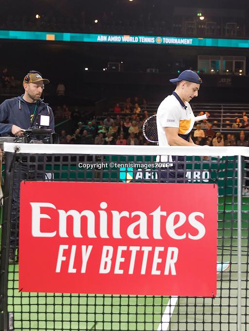 Rotterdam, The Netherlands, 14 Februari 2019, ABNAMRO World Tennis Tournament, Ahoy, Tallon Griekspoor (NED),<br /> Photo: www.tennisimages.com/Henk Koster