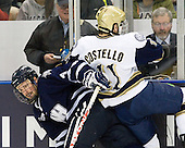 Damon Kipp (UNH - 4), Jeff Costello (Notre Dame - 11) - The University of Notre Dame Fighting Irish defeated the University of New Hampshire Wildcats 2-1 in the NCAA Northeast Regional Final on Sunday, March 27, 2011, at Verizon Wireless Arena in Manchester, New Hampshire.