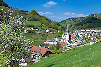 Germany, Baden-Wurttemberg, Black Forest, Bad Peterstal-Griesbach, district Bad Griesbach: resort and final stop of Renchtal-Train | Deutschland, Baden-Wuerttemberg, Schwarzwald, Bad Peterstal-Griesbach, Ortsteil Bad Griesbach: Badeort und Endstation der Renchtalbahn
