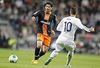 Valencia's Ever Banega during King's Cup match. January 15, 2013. (ALTERPHOTOS/Alvaro Hernandez) /NortePhoto