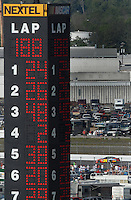 Apr 29, 2007; Talladega, AL, USA; Nascar Nextel Cup Series driver Jeff Gordon (24) leads the field during the Aarons 499 at Talladega Superspeedway. Mandatory Credit: Mark J. Rebilas