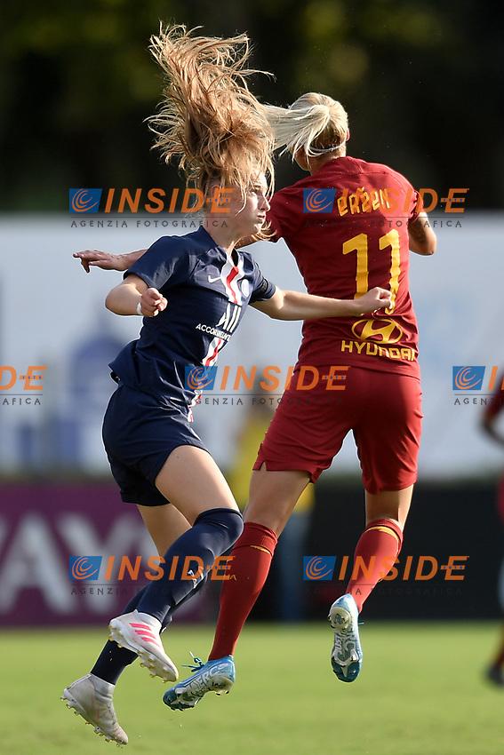 Celina Ould Hocine PSG, Kaja Erzen of AS Roma  <br /> Roma 8/9/2019 Stadio Tre Fontane <br /> Luisa Petrucci Trophy 2019<br /> AS Roma - Paris Saint Germain<br /> Photo Andrea Staccioli / Insidefoto